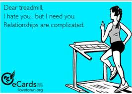cartoon of treadmill and runner