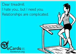 cartoon of treadmill and runner
